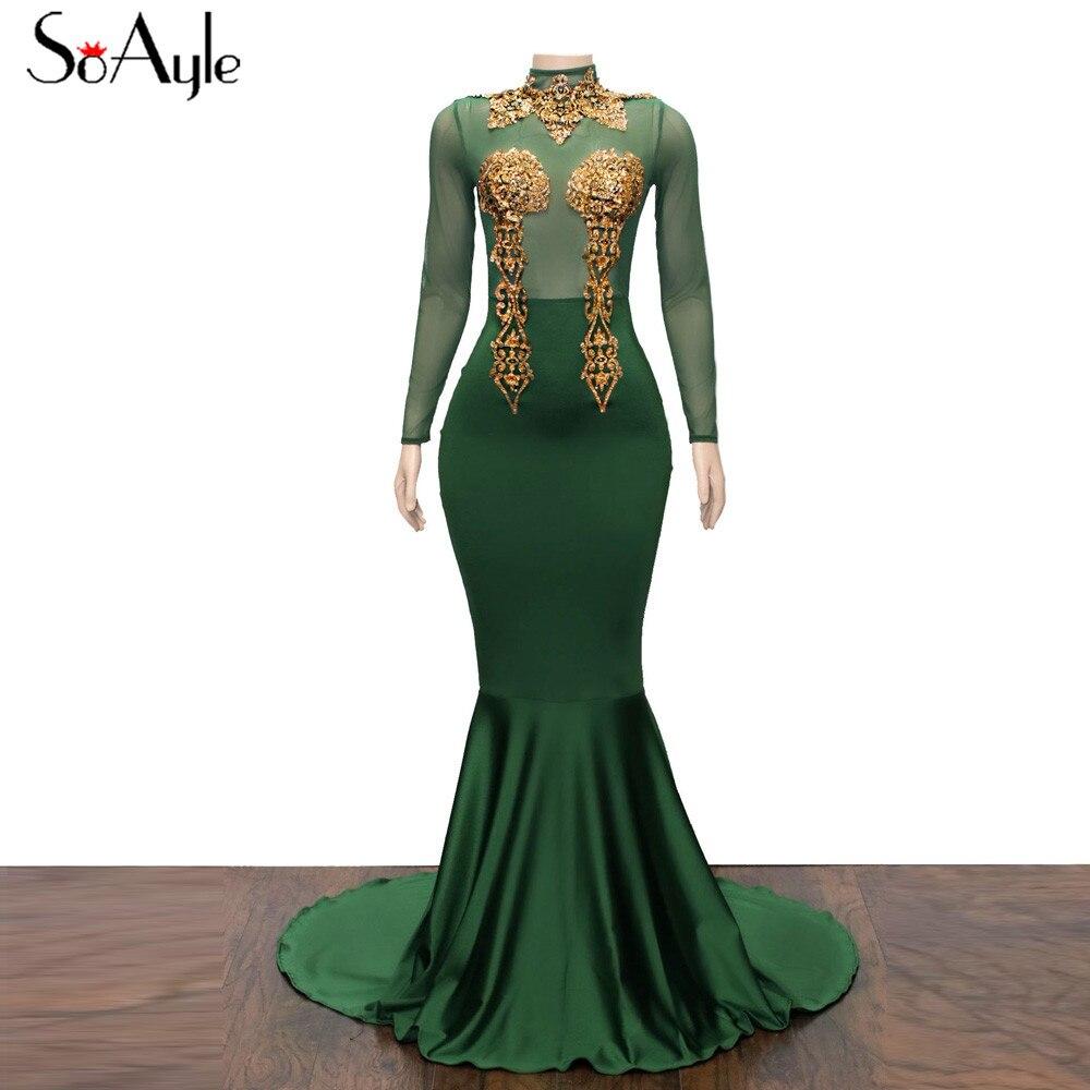 SoAyle Real Photo Vestidos de festa Plus Size Prom Dresses Mermaid ...