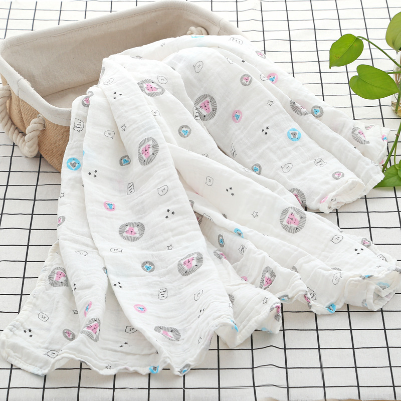 High density swaddle baby blanket scarf muslin gauze baby stuff for newborns baby quilt stroller blanket milestone blanket in Blanket Swaddling from Mother Kids