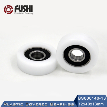 6001 2RS Ball Bearing Covered With POM Plastic 12*40*13 mm ( 2 PCS ) Plastic Pulley Bearings 6001 RS image