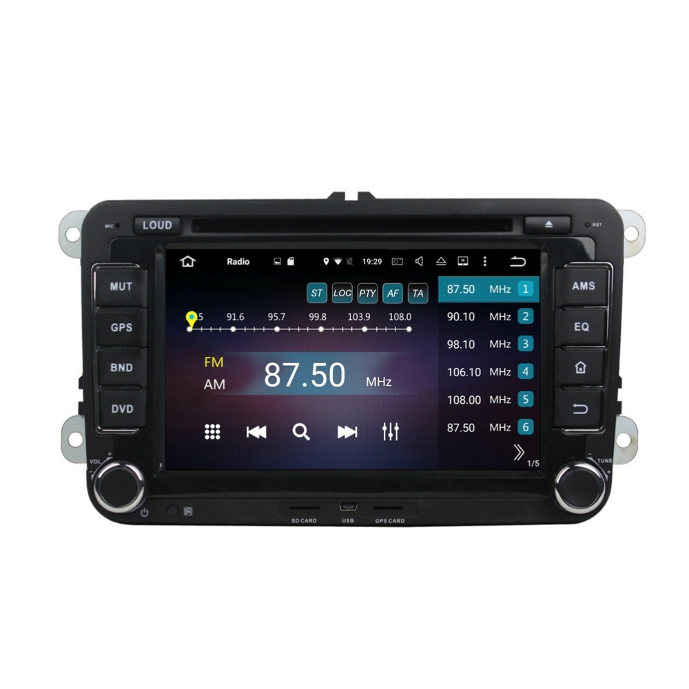 Octa Core 7 Android 6 0 Car font b Radio b font DVD GPS for VW