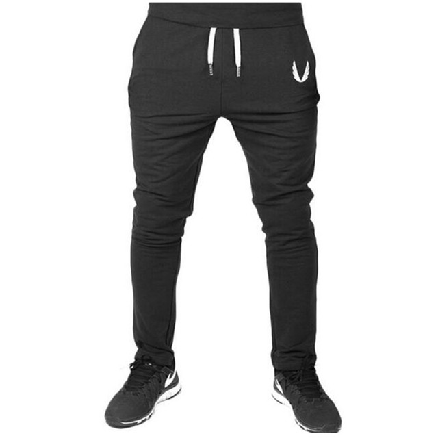 Men Joggers Fall 2016 New Han Edition Embroidery Mens Sweatpants Leisure Cultivate One's Morality Pants Men's Trousers