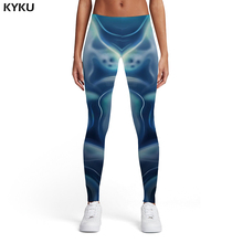 KYKU Halloween Leggings Women Harajuku Sport Psychedelic Sexy Ghost Printed pants Evening Trousers Womens Pants Fitness