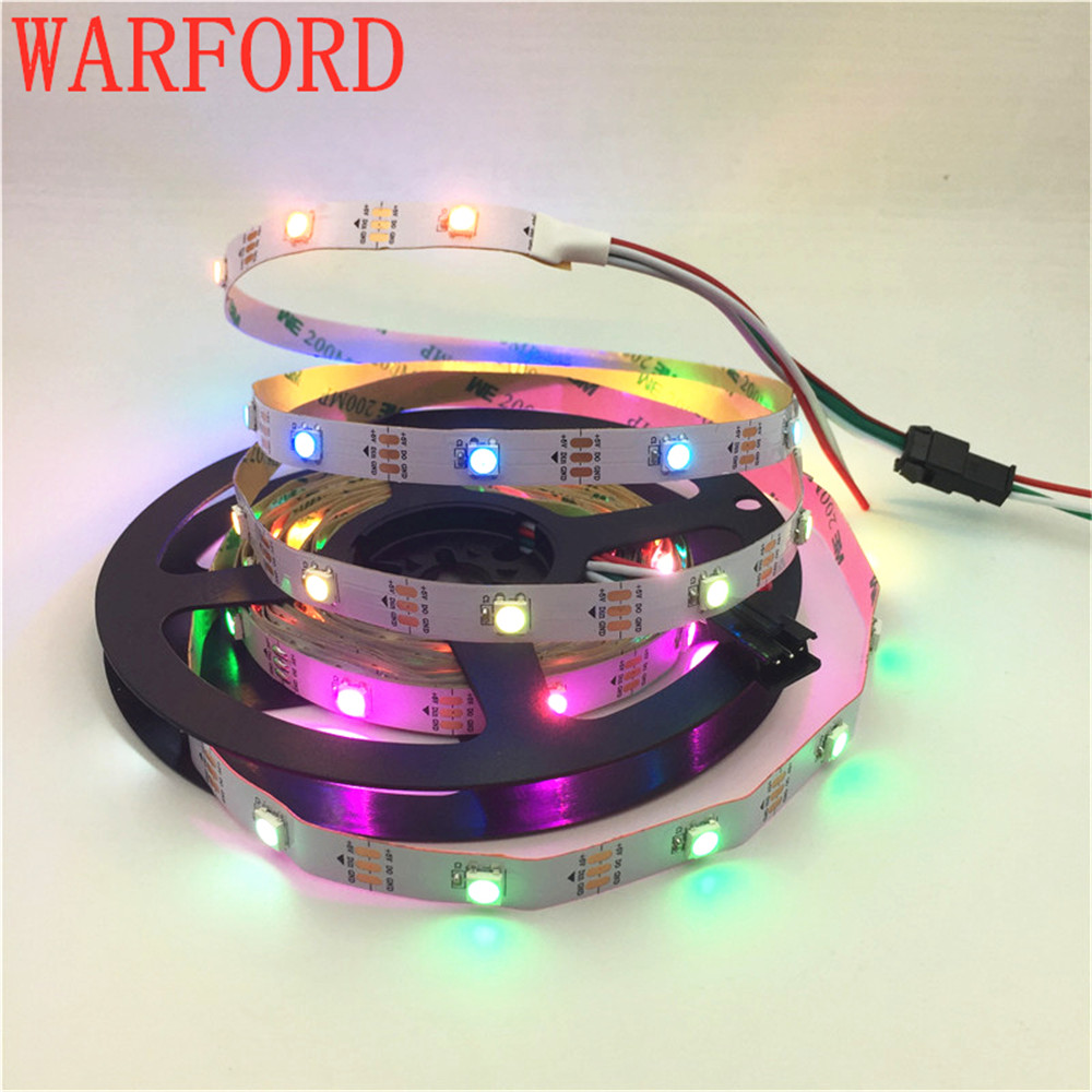 Led Strips Dc5v Ws2812b 1m/4m/5m 30/60/74/96/144 Pixels/leds/m Smart Led Pixel Strip,black/white Pcb,ws2812 Ic;ws2812b/m,ip30/ip65/ip67 Soft And Antislippery