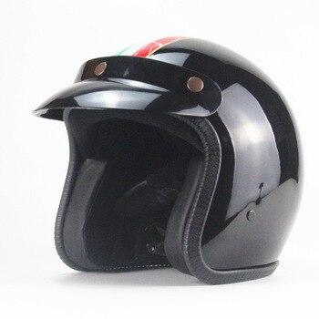 Retro motorcycle helmet 3/4 moto motorbike helmet men women