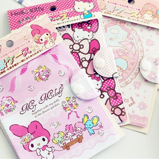 Kawaii My Melody Twin Stars Cartoon Business Card Bag Large Capacity