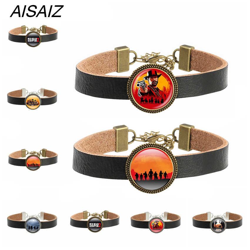 2018 Hot Red Dead Redemption 2 Bracelet Adjustable ID Multi-layer leather rope Weave Bracelets Gift for Man Boy Fashion Bracelet