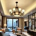 Новый китайский стиль люстра подвесной светильник Железный антикварный столовая коридор роскошная атмосфера китайский чайный домик освещ...