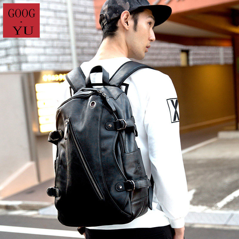 Front Inclined Zipper Women Men Fashion School Bag Travel Bag Trendy Side Buckle Ornament Trendy Contrast Color Casual Backpack buttoned contrast side drawstring shorts