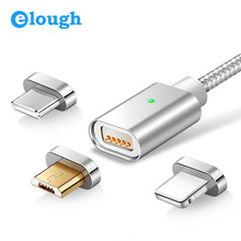 USB Data Cable For iPhone Micro USB Type C Mobile Phone Fast Charge Magnet Charger USB Cable 3 Plug