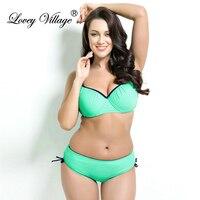 Lovey Village Push Up Bikini Women Sport String Swimsuit Sexy Bathing Suit Swimwear Plus Size Bandeau