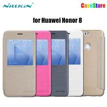 Оригинал NILLKIN Искра Флип Кожаный Чехол для Huawei Honor 8 Smart View Окно Задняя Крышка Телефона Чехол для Huawei Honor 8 (5.2 »)
