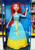 31cm tall pretty princess PVC action figure,good red hair girl,doll for girls,best birthday/Christmas gift,toys for kids dolls