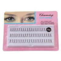 Maquillaje Individual False Fake 60 Stand Eyelashes Premium Corner Flare Cluster Lashes SE11