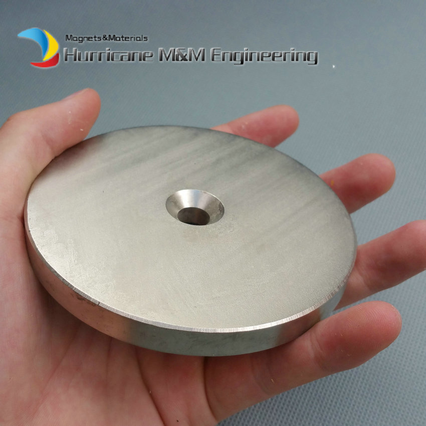 NdFeB N42 Magnet Large Disc OD 100x10 mm with M10 Countersunk Hole 4 round Strong Neodymium Permanent Rare Earth Magnets ndfeb n42 magnet large disc od 100x10 mm with m10 countersunk hole 4 round strong neodymium permanent rare earth magnets