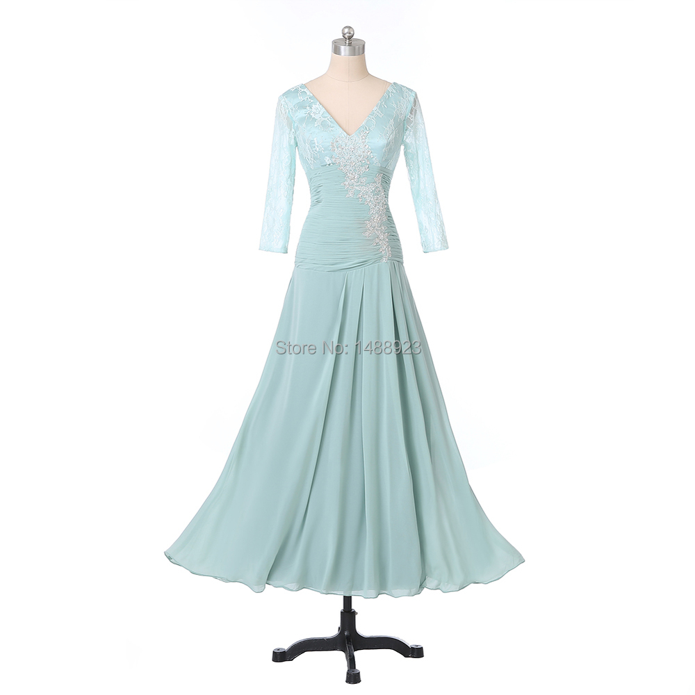 dc71b19108a Real Image New Hot Sales Beaded Sequined V Neck 3 4 Sleeve Elegant ...