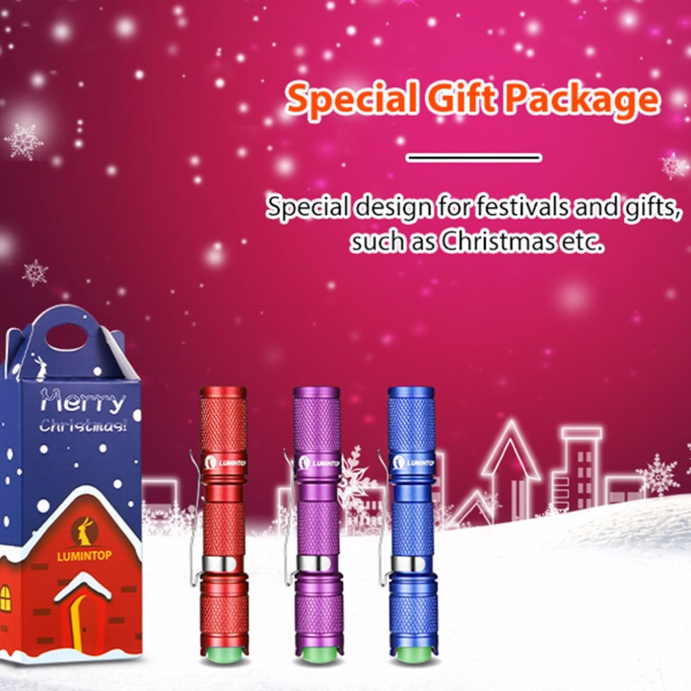 Christmas Version Tool Keychain Mini Flashlight AAA Battery Powered XP-G2 LED Torch Light With Reversible Clip outdoor tool minions mini flashlight keychain with sound