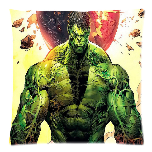 18 Square The Incredible Hulk Polyester Cushion Cover Sofa Decorative Throw Pillowcase Home Chair Car Seat Pillow Case