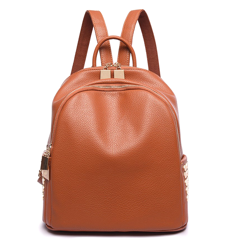 New PU Leather Backpack Women Large Capacity Travel Portable Shoulder Bags Girl High Quality Bookbag Lady Fashion Backpacks new arrival vintage men pu leather backpacks large capacity zipper solid backpack for teenagers high quality black shoulder bags