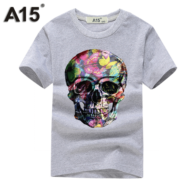 A15 tshirt 3D Short Sleeve t-shirt Kids Girl t shirt Boy Summer 2018 tshirts Cotton Tops Teenage Funny t shirts Tee 8 10 12 Year