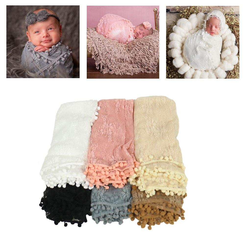 Laço elástico nubble envolve verão bebê rendas swaddle cobertor envoltório floral swaddler infantil pano recém-nascido fotografia adereços cobertores