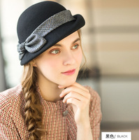 Womens hat berets 2018 new British style wool beret fashion bucket hat winter hats for women high quality beret