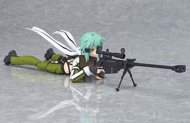 Huong Anime Figure 15 CM Sword Art Online Asada shino Figma 241 PVC Action Figure Collectible Model Toy 4