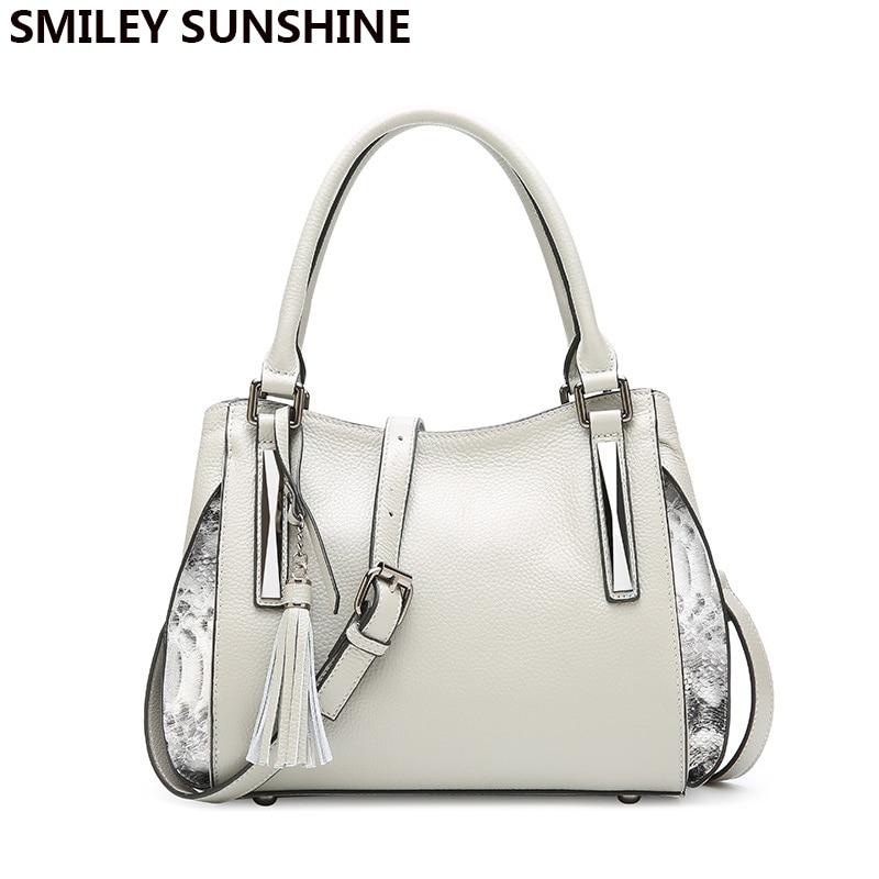 Luxury brand ladies genuine leather bag saffiano tassel women leather handbag designer winter big crossbody bags