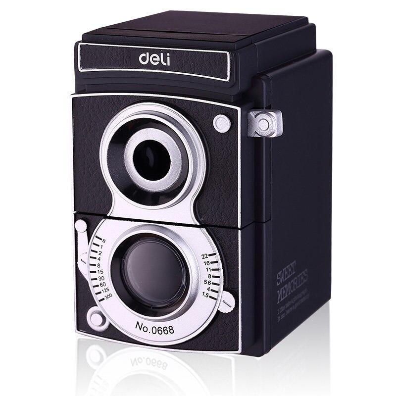 Retro camera cute pencil sharpener deli 0668 Light and shadow adjustable thickness hand roll pencil