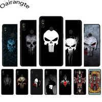 Comic schwarz punisher Weichen Silikon Telefon fall für Xiaomi 5X6 6X8 A1 A2 Lite 9 9se max3 POCOPHONE F1 9T A3 Pro CC9e