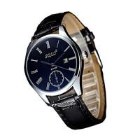 Fashion Automatic Leather Business Watch Men Quartz Waterproof False Small Dial Wristwatch Top Quality Man Datejust