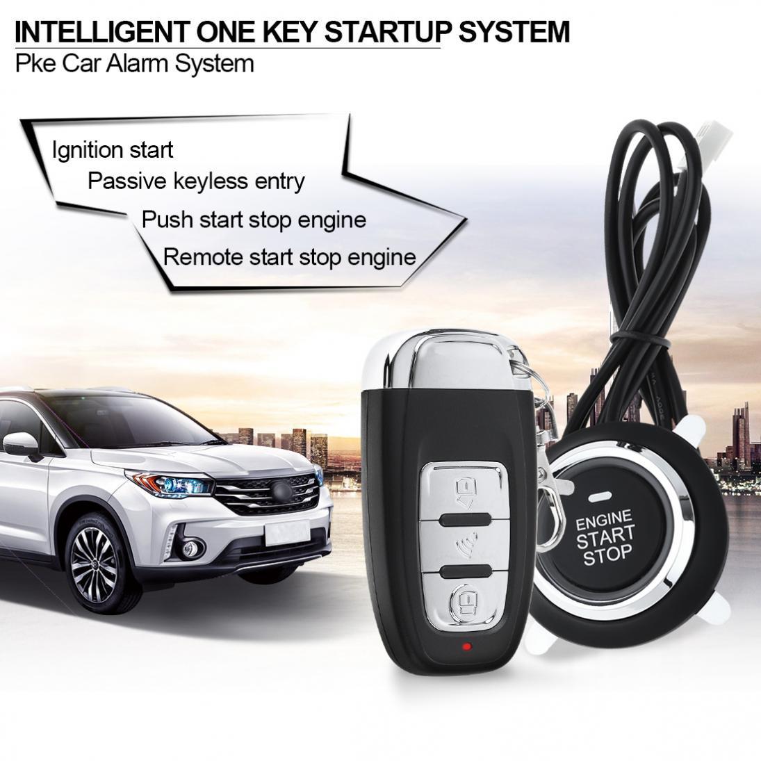 Système de démarrage à distance d'alarme de voiture intelligente démarrage arrêt moteur aller bouton-poussoir verrouillage Central automatique système d'entrée sans clé - 3
