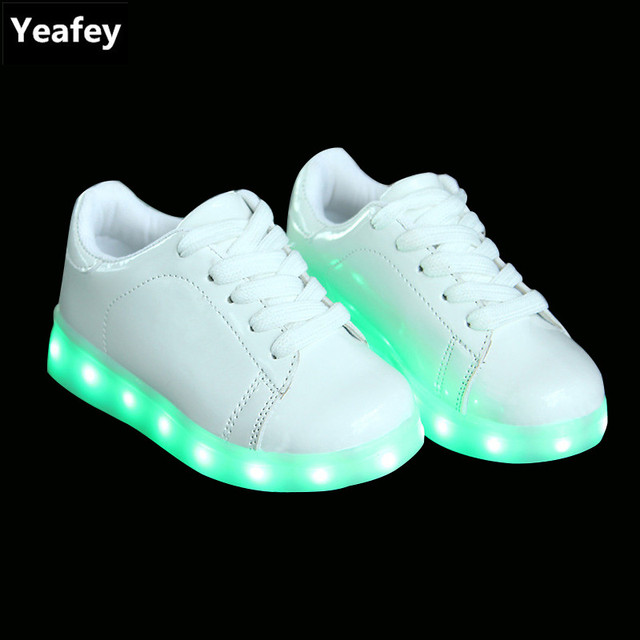 968ba48b465 Yeafey oro Niñas LED Zapatos para Niños luz USB Zapatos LED niños luminoso  iluminado sneakers Boy