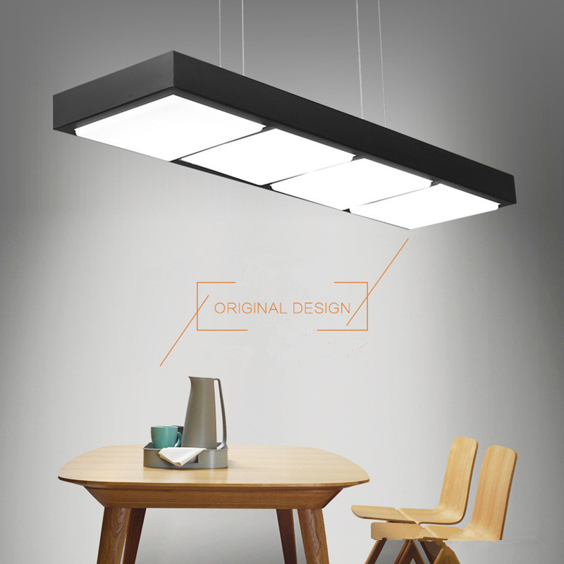 Modern Fashion LED Office Pendant Lights Minimalist White Black Pendant Lamp Dining room Kitchen hanging Lamp Light FixturesModern Fashion LED Office Pendant Lights Minimalist White Black Pendant Lamp Dining room Kitchen hanging Lamp Light Fixtures