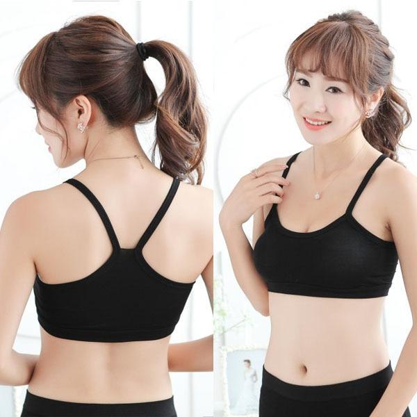 590e79a4d3d Women Modal Cotton Stretch Strap Vest Bra Wrap Chest Crop Top Underwear