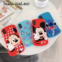 цены For iPhone 5 5s 5c SE 6 6s 7 8 Plus X XS XR XS Max 3D Animal Cute Cartoon Soft Silicone Case Phone Back Cover Protective Cases