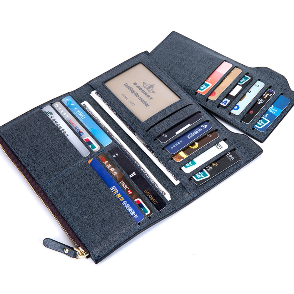 2016 Men Long Wallet Coin Bag zipper ID Credit Card Holder Bifold Coin Purse Top Brand clutch Wallet Pockets Promotion Gift владимир богун электротехника и электроника