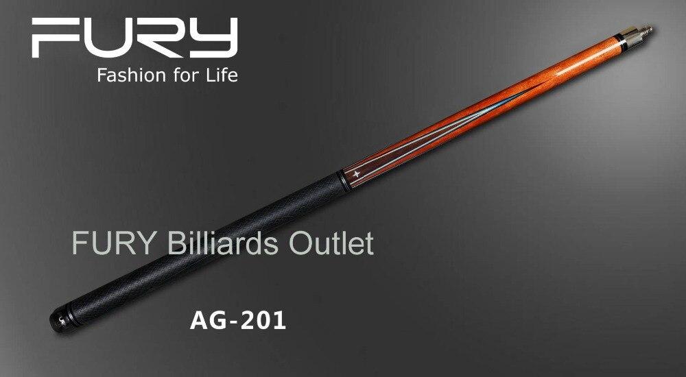 Fury Pool Cue Model AG-201 billiards cue stick 11.75mm / 12.75mm tip(optional)/ pool billiards stick 2017 poinos break pool cue punch