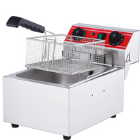 Electric Deep Fryers blast furnace commercial frying machine single cylinder oil deep pan thickened 10L time fry