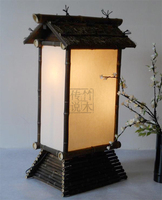 Бамбук Ретро древесины в китайском стиле торшер японский чайхана клуба