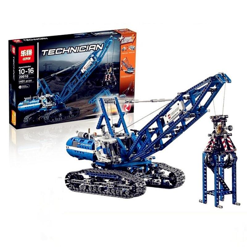IN STOCK Lepin 20010 New 1401Pcs Genuine Technic Mechanical The Crawling Crane Set Building Blocks Bricks Educational Toys 42042 ювелирное изделие 20010