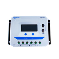 EPEVER VS4524AU 45A Solar Controller 12V 24V Auto PWM Charge Controller with Built in LCD Display and Double USB 5V Port