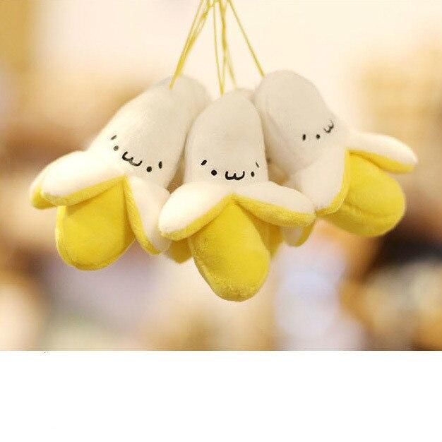 Super cute yellow banana plush toys, mobile phone pendant pendant small banana backpack stuffed sweet smile цены