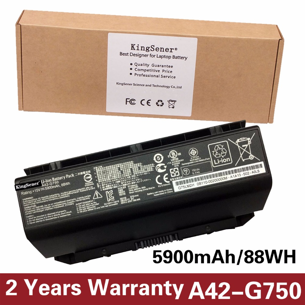 Korea Cell New A42-G750 Laptop Battery for ASUS ROG G750 Series G750J G750JH G750JM G750JS G750JW G750JX G750JZ 15V 5900mAh/88WH realleader м2 1005