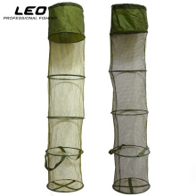 LEO 5 Layers Collapsible Fishing Basket Dip Net Fishing Cage to Keep Fish Alive in the Water 30cm*140cm Fishing Accessories Tool