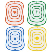4pcs Plastic Cutting Board Non slip Frosted Kitchen Cutting Board Vegetable Meat Tools Kitchen Accessories Chopping