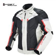 GHOST RACING Autumn Winter Motorcycle Jacket Men Waterproof Windproof Moto Riding Racing Motorbike Clothing Protective