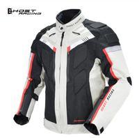 GHOST RACING Autumn Winter Motorcycle Jacket Men Waterproof Windproof Moto Jacket Riding Racing Motorbike Clothing Protective