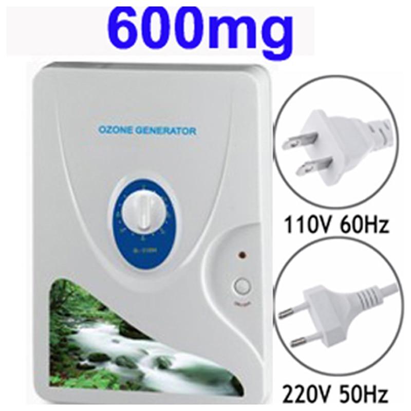 Droshipping 600 mg générateur d'ozone Ozonateur Roue Minuterie Air Purificateurs Légumes Viande Frais Purifier Air Eau o3 Ozonizer