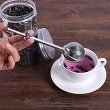 1pcs Tea Infuser Convenient Ball Shaped Stainless Steel Silver Push Style Tea Infuser Strainer for dropship
