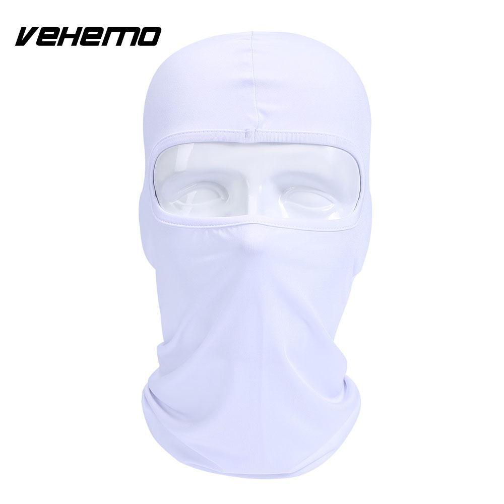 Vehemo аксессуары для улицы полная мотоциклетная маска для защиты лица шапки унисекс 14 цветов Практичная Балаклава лайкра защита удобный - Цвет: white